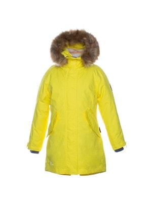 Пальто, з капюшоном VIVIAN, Жовтий, HUPPA Естонія, 21OZ