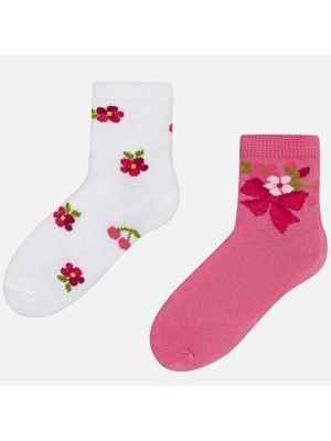 Шкарпетки, 2 пари, Рожевий, Mayoral Іспанія, 19VL