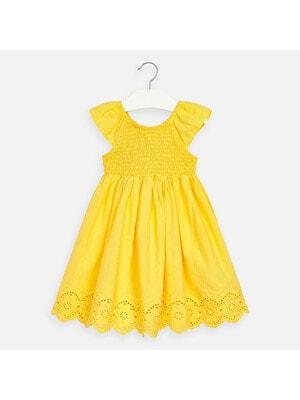 Сукня, у вишитих квітах (низ вибитий), Жовтий, Mayoral Іспанія, 20VL