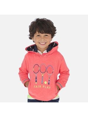Пуловер, з капюшоном, Кораловий, Mayoral Іспанія, 20VL