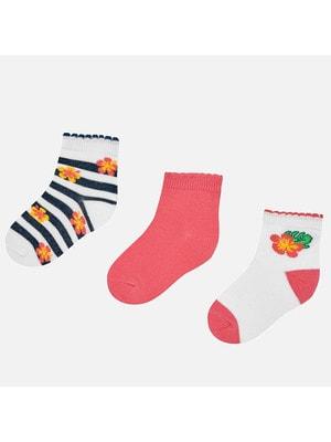 Шкарпетки, 3 пари, Рожевий, Mayoral Іспанія, 19VL