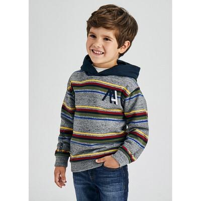 Пуловер, з капюшоном, утеплений, Сірий, Mayoral Іспанія, 22OZ