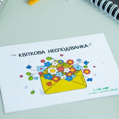 """ІГРАШКА Набір, Листівка квітуча """"Квіткова несподіванка"""" (Конверт), Brinjal Україна"""