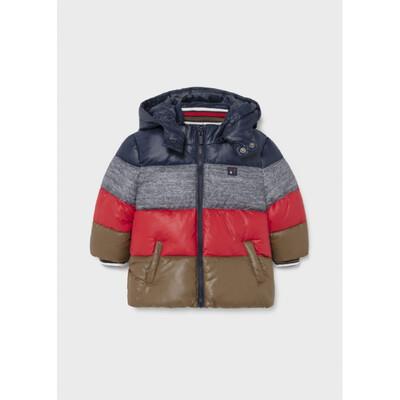 Куртка, з капюшоном, еврозима (червона вставка), Темно-синій, Mayoral Іспанія, 22OZ