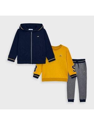 Комплект Спортивний, Кофта + бурштиновий  пуловер + штани, Темно-синій, Mayoral Іспанія, 21OZ