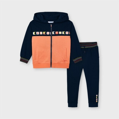 Комплект Спортивний, Кофта + темно-сині штани, Кораловий, Mayoral Іспанія, 21VL