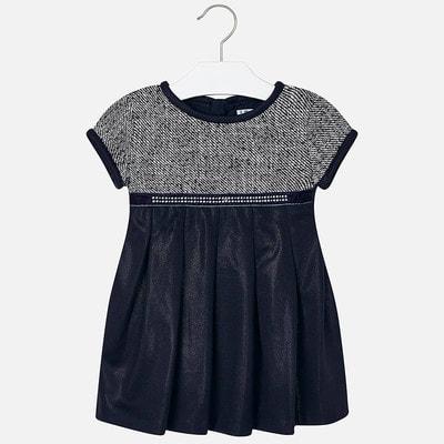 Сукня, з блиском, короткий рукав, Чорний, Mayoral Іспанія, 20OZ