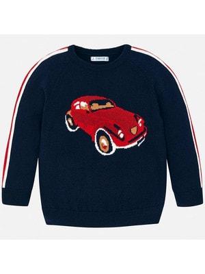 Светр, червона машина, Темно-синій, Mayoral Іспанія, 20OZ
