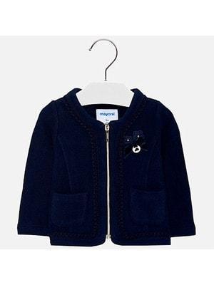Піджак, в'язаний, Темно-синій, Mayoral Іспанія, 19OZ