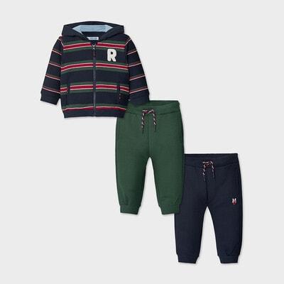 Комплект Спортивний, Кофта в синю смугу + штани 2шт. (сині), Зелений, Mayoral Іспанія, 21OZ