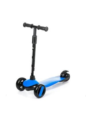 ІГРАШКА Самокат, Crosser (фіксація колес, регулюється висота ручки, світло), Синій, Babyhit Польща
