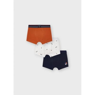 Білизна, Труси 3 шт. (помаранчевий, білий), Темно-синій, Mayoral Іспанія, 22OZ