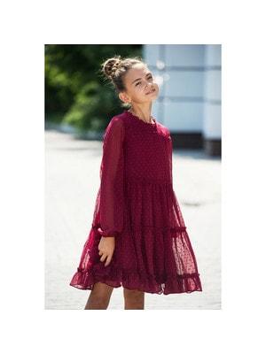 Сукня, довгий рукав, Бордовий, Mayoral Іспанія, 20OZ