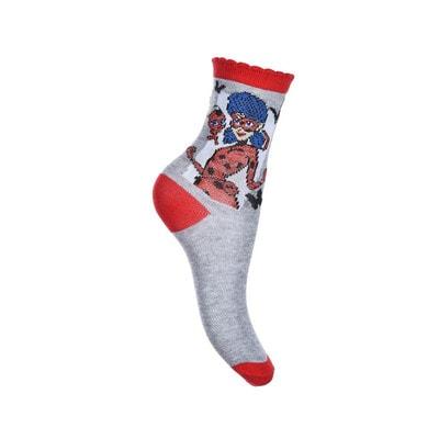 Шкарпетки, 3 пари, LADY BUG, Сірий, Sun City Франція, 21OZ