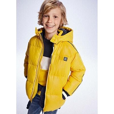 Куртка, з капюшоном, утеплена, Жовтий, Mayoral Іспанія, 22OZ