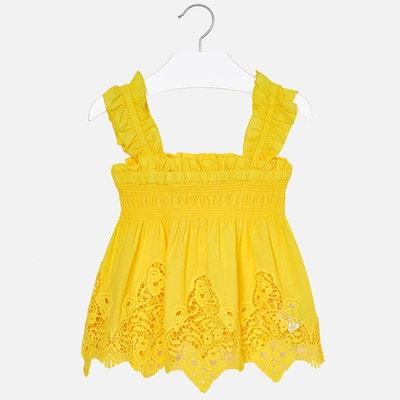 Блуза, вибитий узор, Жовтий, Mayoral Іспанія, 19VL