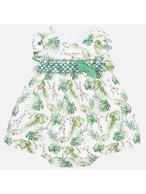 Сукня в зелених листочках, Білий, Mayoral Іспанія, 20VL