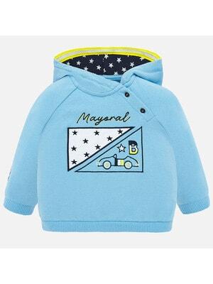 Пуловер, з капюшоном, Блакитний, Mayoral Іспанія, 20VL