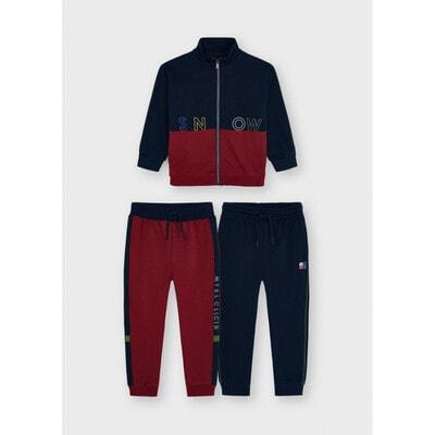 Комплект Спортивний, Кофта + штани 2 шт. (1- бордові), утеплений, Темно-синій, Mayoral Іспанія, 22OZ