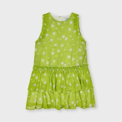 Платье, в черную крапинку, Зеленый, Mayoral Испания, 21VL
