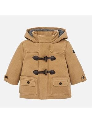 Пальто, з капюшоном, Бежевий, Mayoral Іспанія, 19OZ