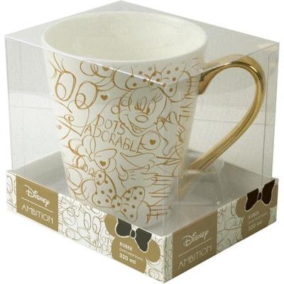Чашка 320 мл MINNIE (золотой рисунок), Белый, Disney Польша