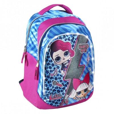 Рюкзак LOL с синими вставками (50х40х15) Cerda, Розовый, Disney Испания, 21OZ