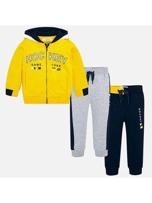 Комплект Спортивный, Кофта + штани 2 шт. (сині та сірі), Жовтий, Mayoral Іспанія, 20OZ