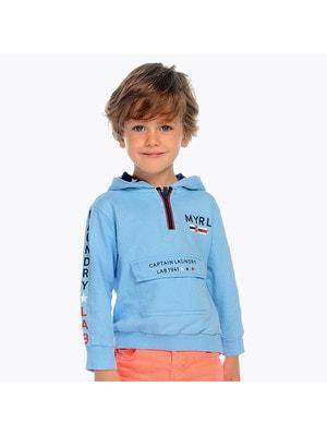 Пуловер, з капюшоном, Блакитний, Mayoral Іспанія, 19VL