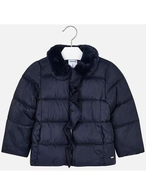 Куртка, комір з хутра, Темно-синій, Mayoral Іспанія, 20OZ