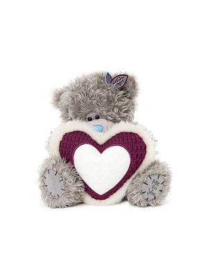 Іграшка М'яка, Ведмедик Тедді з біло-малиновим серцем, 23 см, Me To You Великобританія