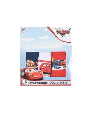 Белье, Трусы в коробке, 3шт. CARS 3, Красный, Sun City Франция, 21OZ
