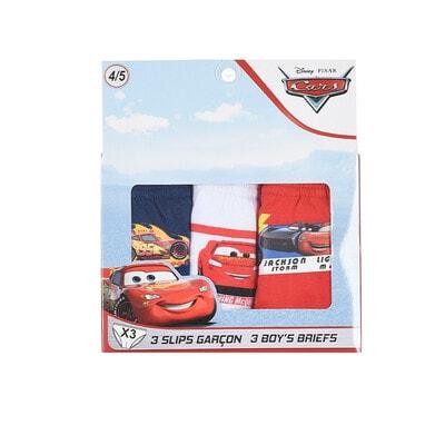 Білизна, Труси в коробці, 3шт. CARS 3, Червоний, Sun City Франція, 21OZ