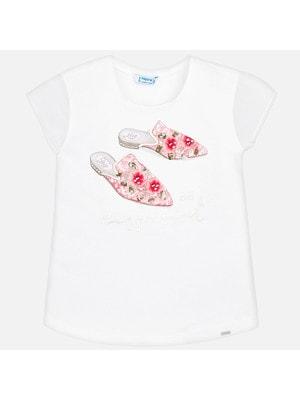 Футболка, рожеве взуття, Білий, Mayoral Іспанія, 19VL