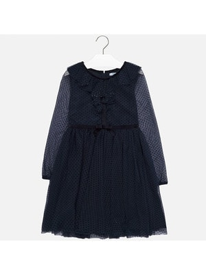 Сукня, довгий рукав, Темно-синій, Mayoral Іспанія, 20OZ