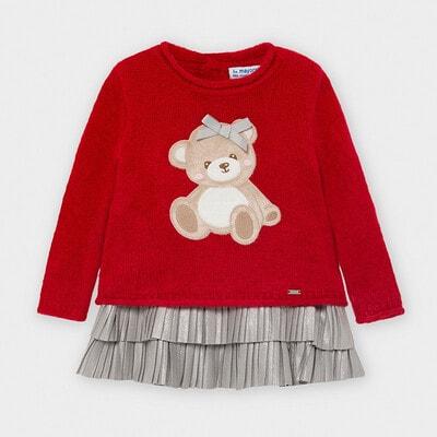 Комплект, Светр + сіра сукня, Червоний, Mayoral Іспанія, 21OZ