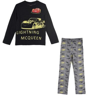 Піжама, серія Disney  CARS Джемпер + сірі штани (світиться у темряві), Чорний, Sun City Франція, 21OZ