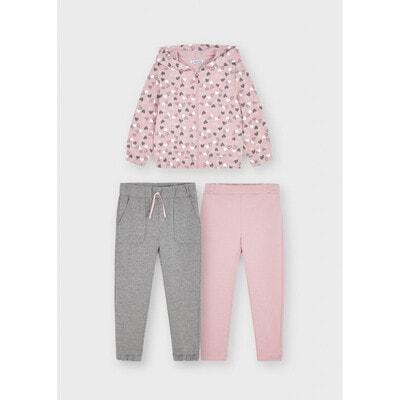 Комплект, Кофта + штани 2 шт., утеплений, Рожевий, Mayoral Іспанія, 22OZ
