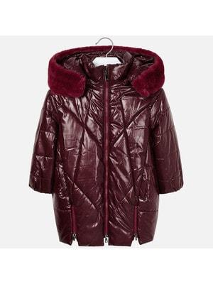Пальто, з капюшоном, Бордовий, Mayoral Іспанія, 20OZ
