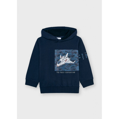 Пуловер, з капюшоном, утеплений (світиться у темряві), Темно-синій, Mayoral Іспанія, 22OZ