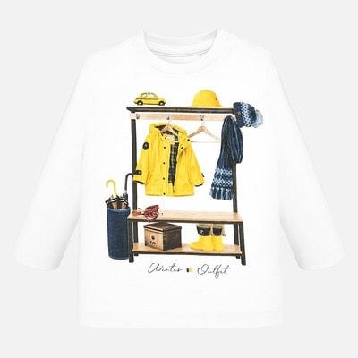 Джемпер, (жовтий одяг та взуття), Білий, Mayoral Іспанія, 20OZ