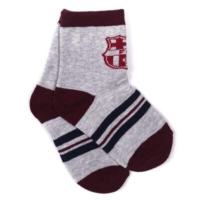 Шкарпетки, FC Barcelona бордова окантовка, Сірий, Disney Польща, 21OZ