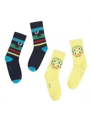Шкарпетки, 2 пари; 1- Жовтий, 1-, Темно-синій, TucTuc Іспанія, 20OZ