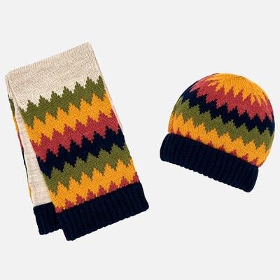 Головний убір Комплект, Шапка + шарф, Бежевий, Mayoral Іспанія, 19OZ
