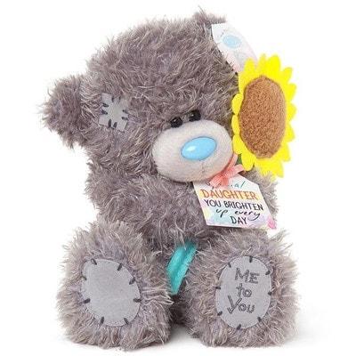 Іграшка М'яка, Ведмедик Тедді з соняшником для чудової донечки, 18 см, Me To You Великобританія
