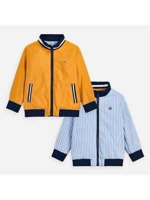 Куртка, двостороння (блакитна в білу смугу), Бурштиновий, Mayoral Іспанія, 20VL