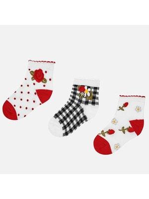 Шкарпетки, 3 пари, Червоний, Mayoral Іспанія, 19VL