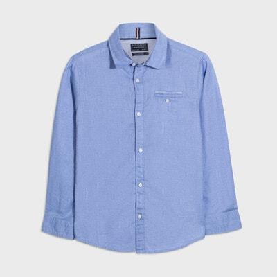 Сорочка, довгий рукав, Блакитний, Mayoral Іспанія, 21OZ