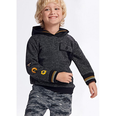 Пуловер, з капюшоном, утеплений, Чорний, Mayoral Іспанія, 22OZ