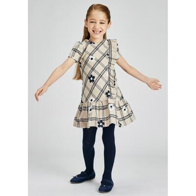Сукня, короткий рукав, Бежевий, Mayoral Іспанія, 22OZ